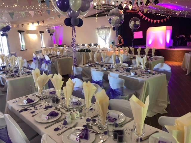 wedding reception in barn
