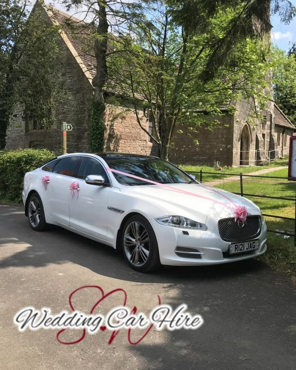 south west wedding car hire outside church