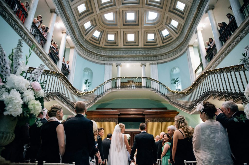Dominike Scheibinger Photography Leigh Court Great Hall Wedding Ceremony