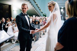 Dominika Scheibinger Leigh Court Wedding Ceremony Bride Groom