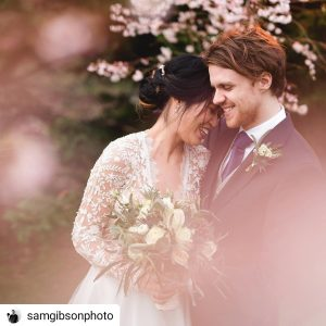 newly wed couple sam gibson photography instagram somerset wedding