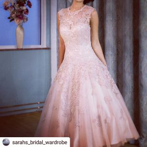 sarahs bridal wardrobe pink dress instagram somerset wedding