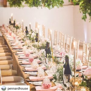 Pennard House pink wedding theme instagram