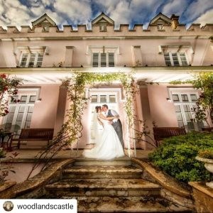 woodlands castle pink wedding somerset instagram ben simmonds photography