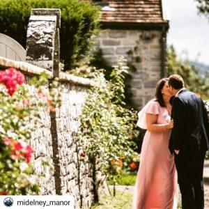 midelney Manor stolen kiss in walled garden