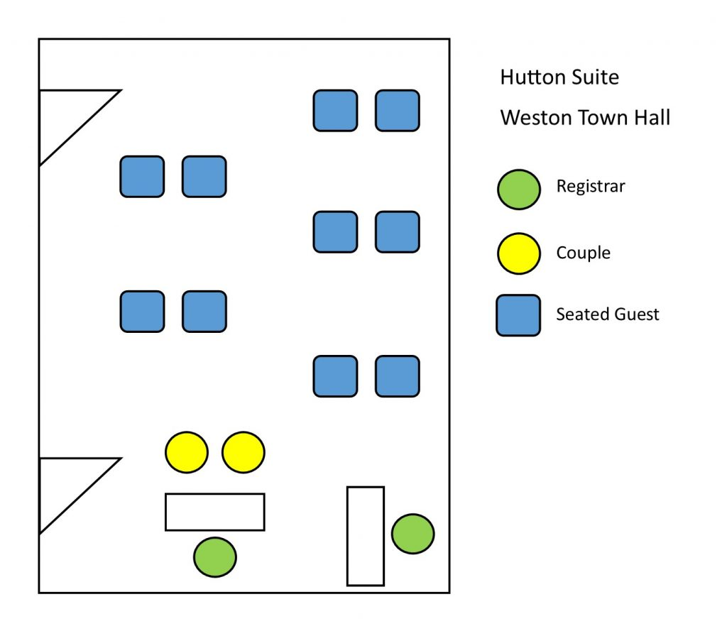 room plan for hutton suite, weston town hall