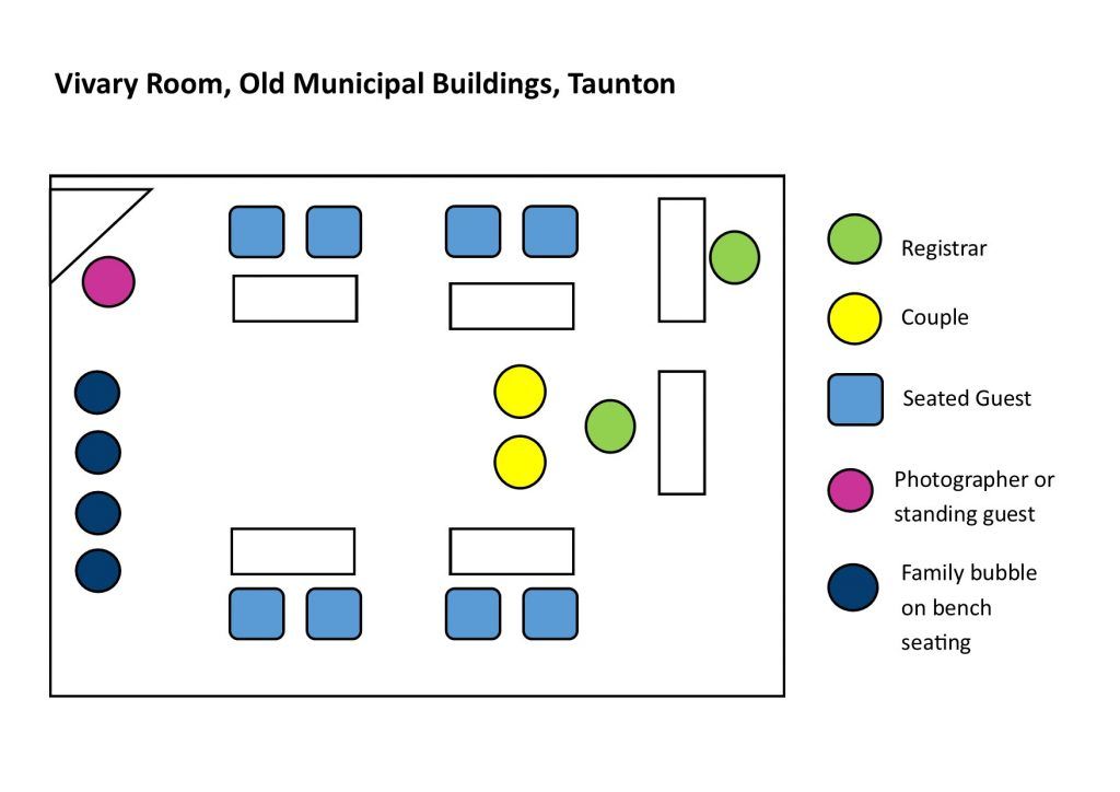 seating diagram for vivary room in taunton