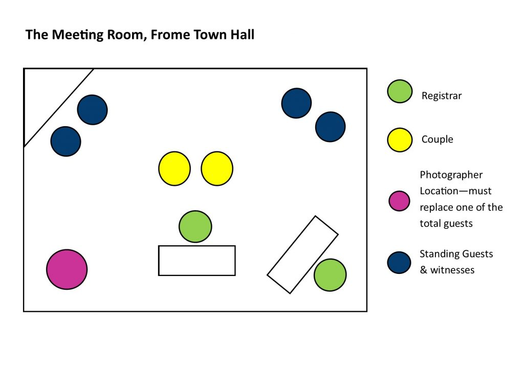 room diagram for meeting room at frome town hall