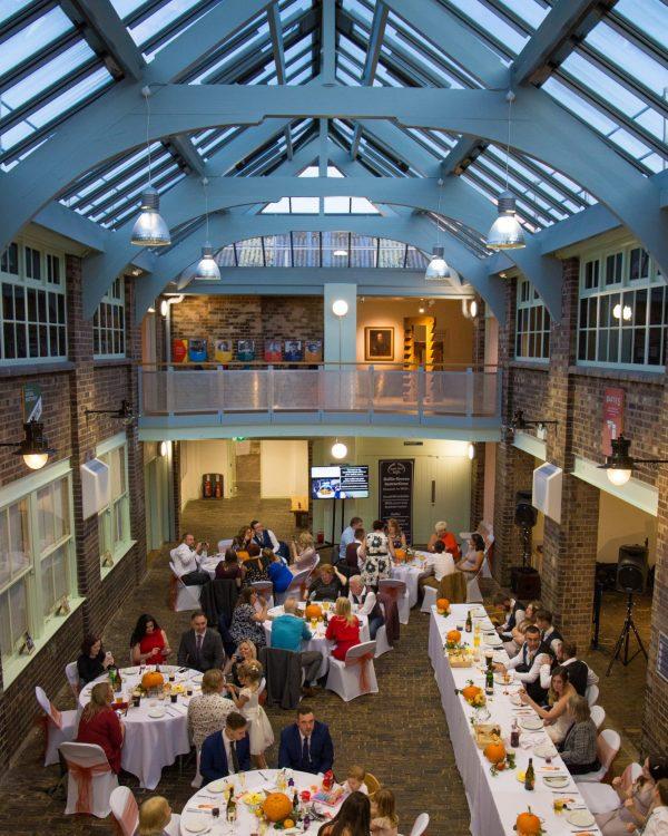 wedding dinner inside weston museum